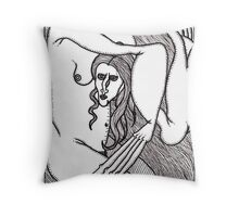 untitled nude Throw Pillow