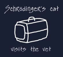 Schrödinger's Cat Carrier - T Shirt Kids Clothes