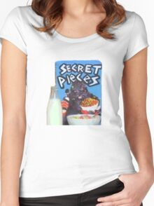 Secret Pieces! Women's Fitted Scoop T-Shirt