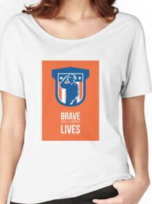 Memorial Day Greeting Card Miilitary Serviceman Salute Shield Women's Relaxed Fit T-Shirt