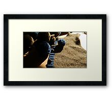 Unraveling a Wool Sweater Framed Print