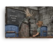 The Angry Teacher Canvas Print