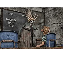 The Angry Teacher Photographic Print