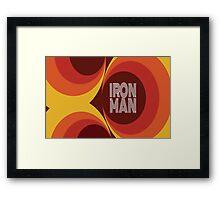 "Retro Superheroes "" Iron Man"" Framed Print"