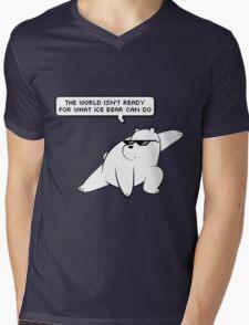 Ice Bear - We Bare Bears Mens V-Neck T-Shirt