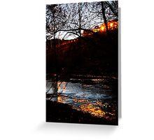 Creekside Embankment Greeting Card