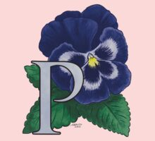 P is for Pansy - full image Baby Tee