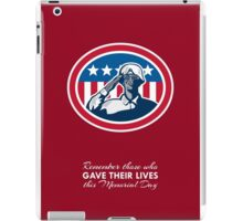 Memorial Day Greeting Card African American Soldier Salute Flag iPad Case/Skin