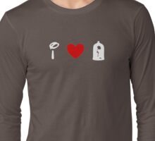 I Heart Beauty and The Beast (Classic Logo) (Inverted) Long Sleeve T-Shirt