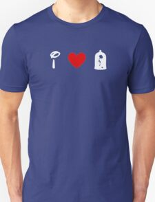 I Heart Beauty and The Beast (Classic Logo) (Inverted) Unisex T-Shirt