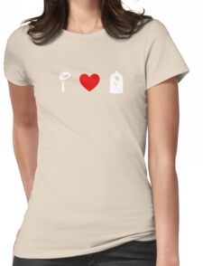 I Heart Beauty and The Beast (Classic Logo) (Inverted) Womens Fitted T-Shirt