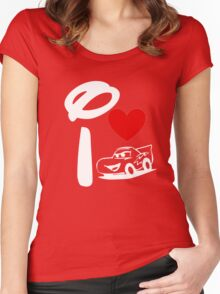 I Heart Cars Land (Inverted) Women's Fitted Scoop T-Shirt