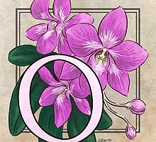 O is for Orchid card by Stephanie Smith
