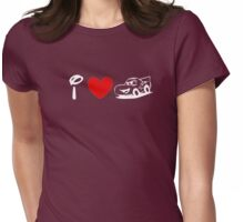 I Heart Cars Land (Classic Logo) (Inverted) Womens Fitted T-Shirt