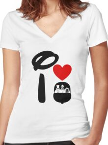 I Heart Haunted Mansion Women's Fitted V-Neck T-Shirt