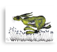RUNNING HARE  Canvas Print