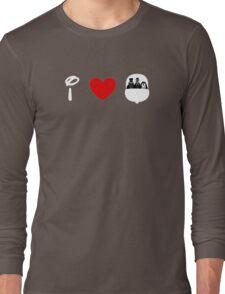 I Heart Haunted Mansion (Classic Logo) (Inverted) Long Sleeve T-Shirt