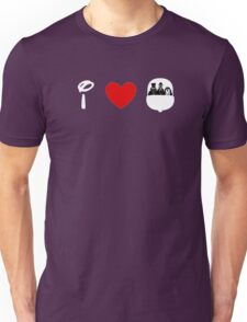 I Heart Haunted Mansion (Classic Logo) (Inverted) Unisex T-Shirt