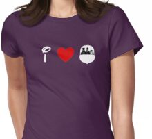 I Heart Haunted Mansion (Classic Logo) (Inverted) Womens Fitted T-Shirt