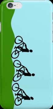 Three cyclists by funkyworm