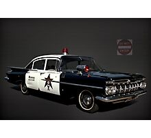"1959 Chevrolet Police Car ""Memphis Police"" Photographic Print"