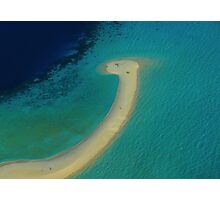 I found the Loch Ness monster in the Maldives !!! Photographic Print