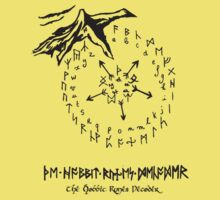 The Hobbit Runes Decoder Kids Clothes