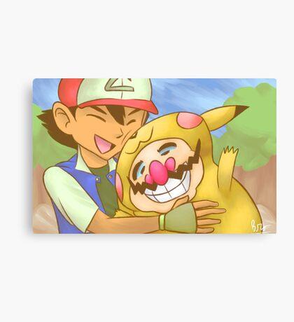 Ash and WarioChu Canvas Print
