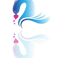 Love Birds 'Blue Swans' by Christopher Richards