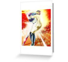 Sword Robot Greeting Card