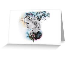 Geometric Angel  Greeting Card