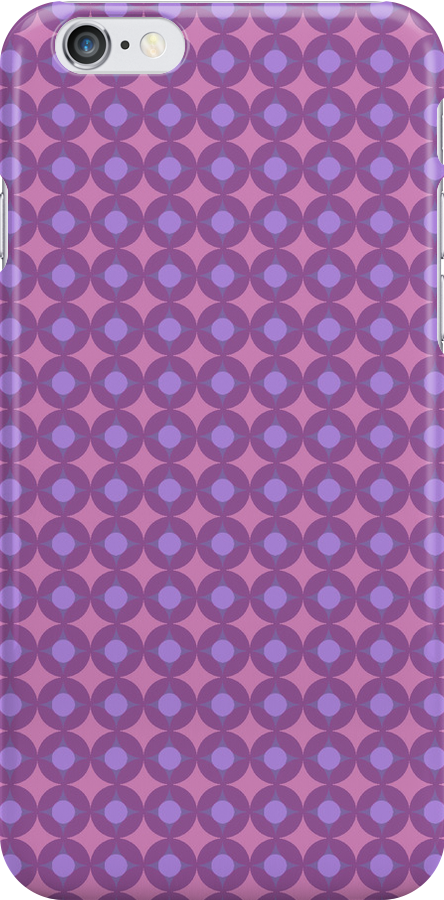 Pink dotty iPhone Case by bradwoodgate