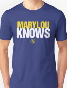 Discreetly Greek - Mary Lou Knows - Nike parody Unisex T-Shirt