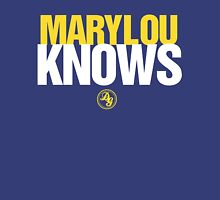 Discreetly Greek - Mary Lou Knows - Nike parody Womens Fitted T-Shirt