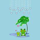 Cute Love Heart Rain & Frogs - Love Just Happens by scottorz