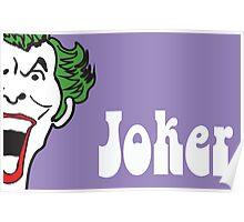 "Retro Superheroes ""Joker"" Poster"