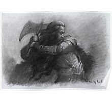 Dwarf Warrior Study Poster