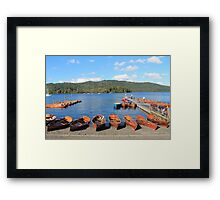 Rowing Boats on Lake Windermere Framed Print