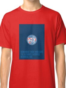 Memorial Day Greeting Card Soldier Military Salute Circle  Classic T-Shirt