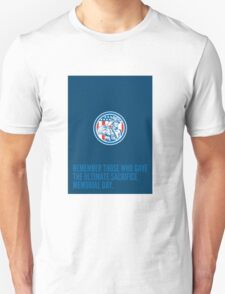 Memorial Day Greeting Card Soldier Military Salute Circle  T-Shirt