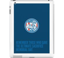 Memorial Day Greeting Card Soldier Military Salute Circle  iPad Case/Skin