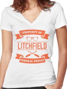 LITCHFIELD PRISON Women's Fitted V-Neck T-Shirt