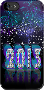 2013 With Fireworks And Reflection iPhone Case by Moonlake