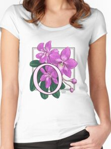O is for Orchid Women's Fitted Scoop T-Shirt