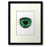 FREAKY GREEN EYE T-SHIRT DESIGN, The Incredible Hulks Eye, Bruce Banner Transforms Into The Incredible Hulk Framed Print