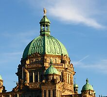 Green Domes and Details on Victoria Parliament by dbvirago