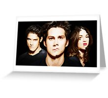 Teen Wolf 3B Cartoon Style Greeting Card