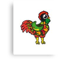 Cute Kawaii Barcelos Rooster Canvas Print
