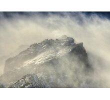 Wind Covered Peak Photographic Print