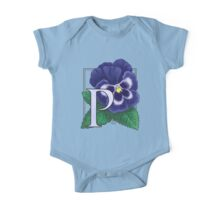 P is for Pansy One Piece - Short Sleeve